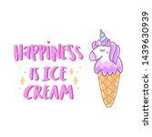 unicorn ice cream with stars...