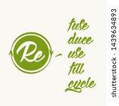 zero waste background template. ... | Shutterstock .eps vector #1439634893