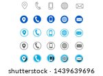 5 different style contact icons ... | Shutterstock .eps vector #1439639696