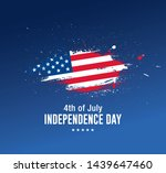 fourth of july independence day ... | Shutterstock .eps vector #1439647460