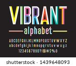 trendy style colorful alphabet... | Shutterstock .eps vector #1439648093