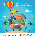 summer time vacation travel ... | Shutterstock .eps vector #1439658563