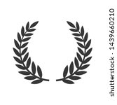circular laurel foliate icon....   Shutterstock .eps vector #1439660210