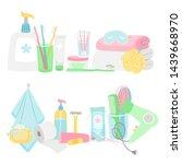 Cartoon Hygiene Elements And...