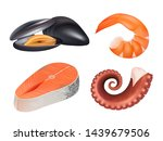 sea food realistic. fresh fish...   Shutterstock .eps vector #1439679506