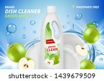dishware cleaner. cleaning and... | Shutterstock .eps vector #1439679509