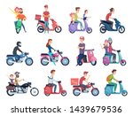motorcycle riders. male and... | Shutterstock .eps vector #1439679536