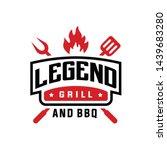 vintage grill barbeque logo...   Shutterstock .eps vector #1439683280