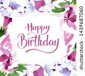 brugmansia floral botanical... | Shutterstock . vector #1439687060