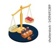 Money Or Law Vector...