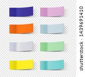 sticky note papers  paper... | Shutterstock .eps vector #1439691410