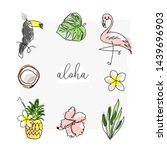 cute tropical set of different...   Shutterstock .eps vector #1439696903
