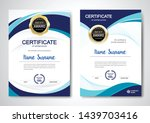 certificate template clean and... | Shutterstock .eps vector #1439703416