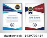 certificate template clean and... | Shutterstock .eps vector #1439703419