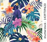 tropical abstract color print.... | Shutterstock . vector #1439709620