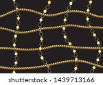 seamless gold chain pattern for ...   Shutterstock .eps vector #1439713166