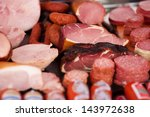closeup of a variety of cooked... | Shutterstock . vector #143972638