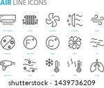 set of air icons  such as air... | Shutterstock .eps vector #1439736209