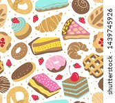 sweet cakes  cupcakes and... | Shutterstock .eps vector #1439745926