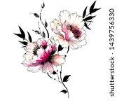 Watercolor Flower Illustration...