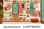 inner space of closet or... | Shutterstock .eps vector #1439780090
