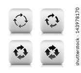 4 icon with arrow sign. set 04. ...