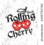 rock rolling cherry black red | Shutterstock .eps vector #1439791760