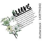 flower illustration with ... | Shutterstock .eps vector #1439794343