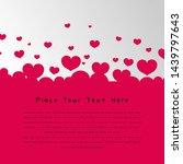 beautiful simple love...   Shutterstock .eps vector #1439797643