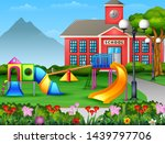 kids playground area in the... | Shutterstock . vector #1439797706