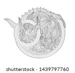beautiful coloring book page...   Shutterstock .eps vector #1439797760