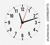clock face mockup. hour  minute ...   Shutterstock .eps vector #1439803973