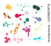 Color Ink Spot Set. Splash And...
