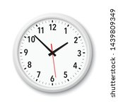 realistic white modern quartz... | Shutterstock .eps vector #1439809349
