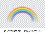 rainbow icon realistic. perfect ... | Shutterstock .eps vector #1439809406
