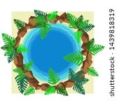 small round pond with tropical... | Shutterstock .eps vector #1439818319