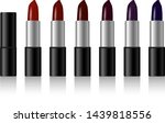 set of color lipsticks.... | Shutterstock .eps vector #1439818556