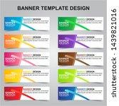 set of modern banners... | Shutterstock .eps vector #1439821016