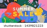 summer sale trendy banner... | Shutterstock .eps vector #1439821223