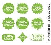 natural food logo icon set... | Shutterstock .eps vector #1439824019