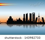 madrid skyline   vector... | Shutterstock .eps vector #143982733