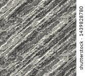 monochrome glitched diagonal... | Shutterstock .eps vector #1439828780