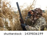 The Hunter Hid In The Reeds An...