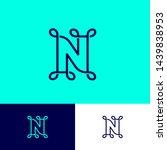 n letter. n monogram  letter...