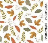 autumn theme seamless pattern...   Shutterstock .eps vector #1439842856