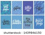 set of summer theme typography...   Shutterstock .eps vector #1439846150