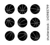 basketball set   Shutterstock .eps vector #143985799