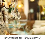 chrystal chandelier close up.... | Shutterstock . vector #143985940
