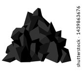 pile of coal. pieces of fossil... | Shutterstock .eps vector #1439863676