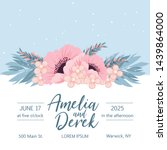 wedding invitation with...   Shutterstock .eps vector #1439864000